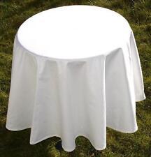 Tischdecke Vollzwirn Damast 160 cm rund weiß Gastro Hotel Bistro Party Hochzeit