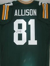 Packers Receiver GERONIMO ALLISON Signed Green Custom Jersey AUTO -