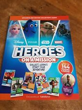 Sainsburys Disney Heroes On A Mission Card Collection - Full Set of 144 + Album