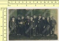 Kids Orchestra Children Boys Musicians Color Tinted vintage photo old original