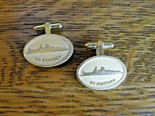 New listing Vintage S.S. Monterey Cruise Ship Cufflinks ~ Gold Tone/Filled