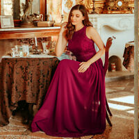 Ever-Pretty US Plus Size Sleeveless Burgundy Long Mother of Bride Dresses 07391
