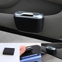 Vehicle Car Auto Trash Rubbish Can Dust Garbage Bin Storage Box Container Black