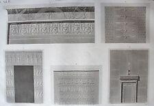 DENDERAIL. (TENTYRIS). (pl. 34, A. vol. IV). Detail de la...  DESCRIPTION EGYPTE