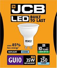 5x JCB 3w LED GU10 Ampoule réflecteur 100° 6500k Lumière du jour 250lm (s10962)