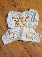 Deadstock 1940s 1930s Wwii souvenir lingerie set sweet sour dont touch