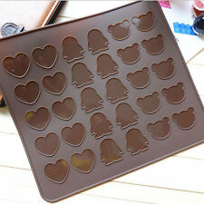 Silicone Pastry Muffin Cake Macaron Oven Baking Mould Mold Sheet Mat Coffee