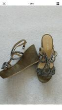 lola cruz wedge sandals size 36