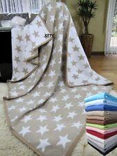 Wohndecke Baumwolldecke Plaid 140x205cm 100% Baumwolle Kuscheldecke Beige-Weiß