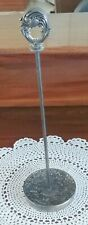TALL 9 inch SILVER TABLE PLACE CARD HOLDER ornate design; weddings, parties +