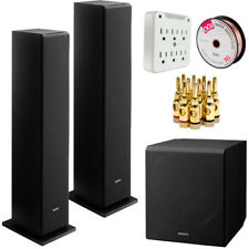 """Sony Ss-Cs3 Floor-Standing Speaker (2) and Sa-Cs9 10"""" Subwoofer with Wire Bundle"""