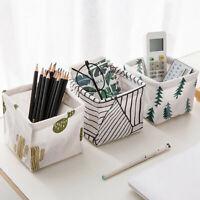 Home Fabric Storage Box Closet Organizer Cube Bins Basket Drawer Container New-