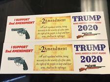 2nd Amendment Sticker Donald Trump President 2020 Campaign MakeAmericaGreatAgain