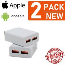2x Double  USB Wall Charger Cube 10W Home Travel for iPad,iPhone, Android Table