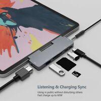 USB C Hub para IPad Pro 2018 Tipo-C una 4K Adaptador HDMI Lector de Tarjeta R5L9
