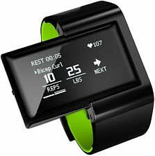 Atlas Wristband 2: Fitness and Activity Digital Trainer + Heart Rate Band Green
