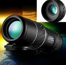 UK PANDA 40X60 Dual Focus Zoom Green Optics Lens Travelling Monocular Telescope