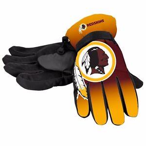 Washington Redskins Gloves Big Logo Gradient Insulated Winter Unisex S/M L/XL