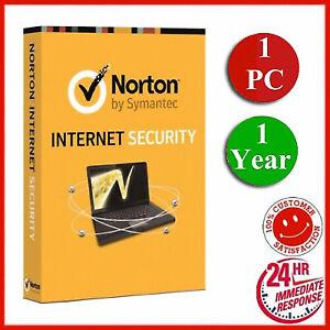 Norton Internet Security 2021🔥 1 Year🔥 1 PC Antivirus Digital Key🔥WORLDWID✅🔥