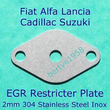 EGR Valve Restricter Plate Fiat Alfa Lancia Cadillac Suzuki 1.9 2.4 Diesel Blank