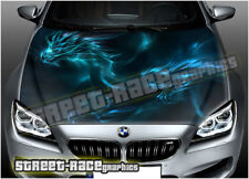 214 Car bonnet hood wrap printed graphics decals AIR RELEASE vinyl - dragons