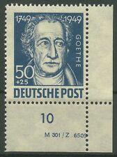 SBZ Allgemeine Ausgabe MiNr. 237 (Goethe) Eckrand mit DV postfrisch