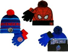 Marvel Avenges or Spider-Man Little Boys Knit Hat & Gloves Set NWT  One Size