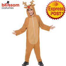 CK898 Reindeer Xmas Jumpsuit Christmas Child Girls Boys Party Kid Costume