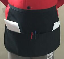 2pcs New Black Havy Duty 3 Pockets Restaurant Waiter Server Waist Apron