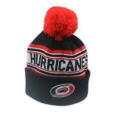 Carolina Hurricanes Nhl Reebok Youth Boys (8-20) Cuffed Pom Knit Winter Beanie