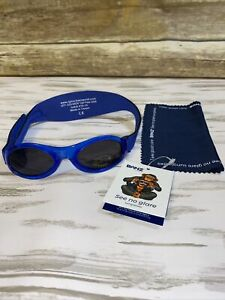 Baby Banz - AGES 0-2 - Baby Sunglasses - w Bubzee Wrap Around - Lapis Blue
