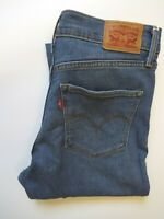 LEVI'S 311 JEANS WOMENS SHAPING SKINNY FIT W27 L28 MID BLUE LEVR196