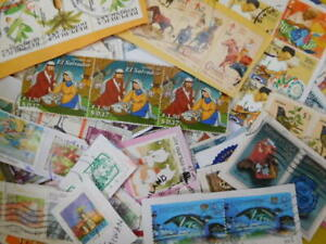 WORLDWIDE STAMPS USED ON PAPER 1Kg