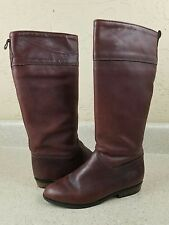 EDDIE BAUER BROWN FLEECE LINED LEATHER KNEE HIGH RIDING BOOTS WOMEN'S SZ 5