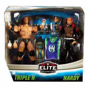 TRIPLE H AND JEFF HARDY WWE MATTEL  2 PACK ELITE WRESTLING ACTION FIGURE