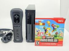 Nintendo Wii Limited Black (Includes Wii Motion Plus Controller + Super Mario