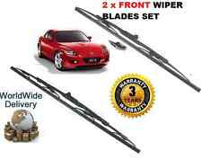 FOR MAZDA RX8 1.3 7/2003->NEW LEFT & RIGHT 2 X FRONT WIPER BLADE SET