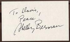 Shelley Berman Signed Index Card Signature Vintage Autographed AUTO