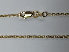 """18kt 18K Yellow Solid Gold 18"""" 1.5mm Diamond Cut Cable Necklace Chain Lobster"""