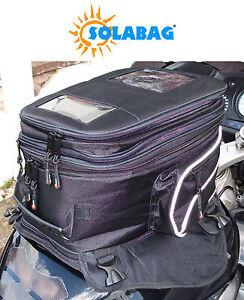 Solar Motorcycle motorbike magnetic tank bag rucksack phone charger UK SELLER
