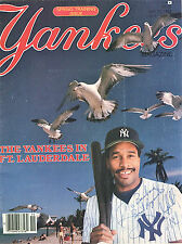 1984--NY YANKEES--MAGAZINE--SPRING TRAINING ISSUE--SIGNED DAVE WINFIELD--NMT