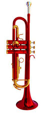 NEW  RED BAND TRUMPET W/CASE.5 YEARS WARRANTY.