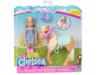 Barbie Club Chelsea Doll Figure and Horse Playset Play Set Toy NEW