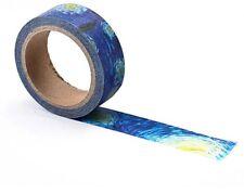 Tinta y cinta de papel Van Gogh Color Clásico estrellado Arte Decorativo/artesanía// Nuevo