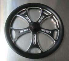 """Jr. Dragster Black Agitator 16"""" Front Wheels Set of 2 with Tires & Tubes Mounted"""