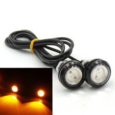 1 Pair Small LED Black DOME Car Boat -Chopper-Bobber Turn Signal Lights-Amber