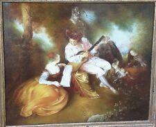 """Giovanni Lorenzetti  Tecnica  Affresco su Tela """"Omaggio a Jean Antoine Watteau"""""""