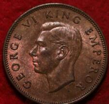 1944 New Zealand 1/2 Penny Foreign Coin