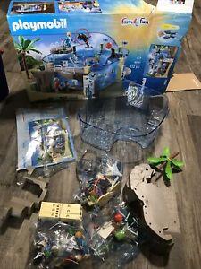 PLAYMOBIL (9060) Family Fun Aquarium Incomplete