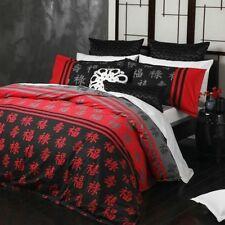 New Logan & Mason Shanghai Red Oriental Queen Size Quilt / Doona Cover Set